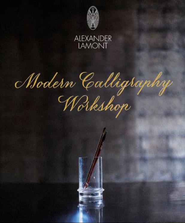 Alexander Lamont Calligraphy Workshop